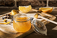Preserving jar of homemade orange marmalade - CSTF01440