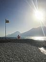 Italy, Brenzone sul Garda, girl at Lake Garda - LVF06368