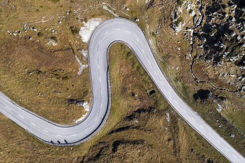 Switzerland, Grisons, Swiss Alps, Julier pass, aerial view - STSF01337