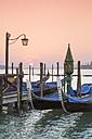 Italy, Venice, gondolas in water - RPSF00025
