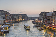 Italy, Venice, cityscape with Grand Canal in twilight - RPSF00031