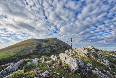 Italy, Umbria, Monte Cucco Park,  Monte Cucco at sunset - LOMF00661