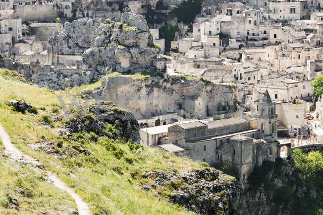 Italy, Basilicata, Matera, Church San Pietro Caveoso at historical cave dwelling, Sassi di Matera - CSTF01472