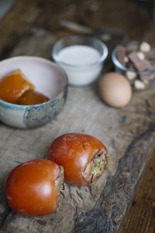 Ingredients of persimmon dessert - ALBF00186