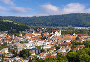 Germany, Bavaria, Altmuehl Valley, Eichstaett, townscape with old town and cathedral - SIEF07582