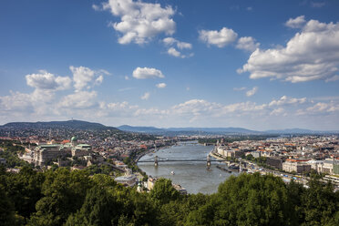 Hungary, Budapest, cityscape from above - ABOF00308