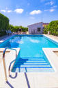 Spain, Mondron, swimming pool - SMAF00851