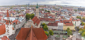 Germany, Bavaria, Munich, View from Old Peter over Viktualienmarkt - MMAF00187