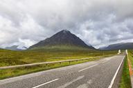 Great Britain, Scotland, Scottish Highlands, Glen Coe, Etive Mor, Glen Etive, River Etive,  Mountain massif Buachaille Etive Mor with Mountain Stob Dearg - FOF09441