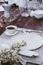Italy, laid breakfast table on terrace - ALBF00216