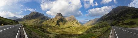 Great Britain, Scotland, Scottish Highlands, Glencoe, Moutain massif Bidean Nam Bian, Pass of Glen Coe - FOF09468