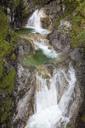 Germany, Bavaria, Upper Bavaria, Bayrischzell, Waterfall Gruene Gumpe - WIF03450