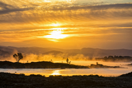 Great Britain, Scotland, Scottish Highlands, Glencoe, Rannoch Moor, Sunrise over Loch Ba - FOF09514