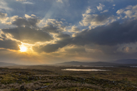 Great Britain, Scotland, Scottish Highlands, Glencoe, Rannoch Moor, Loch Beinn Chaorach and Loch Ba, Sunrise - FOF09517