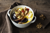 Curd with fruits, apple and plum, walnut and linseed oil - EVGF03267