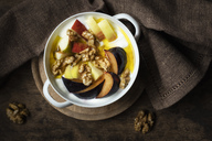 Curd with fruits, apple and plum, walnut and linseed oil - EVGF03270