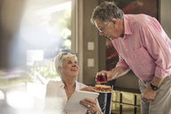 Happy senior couple together at home - ZEF14751