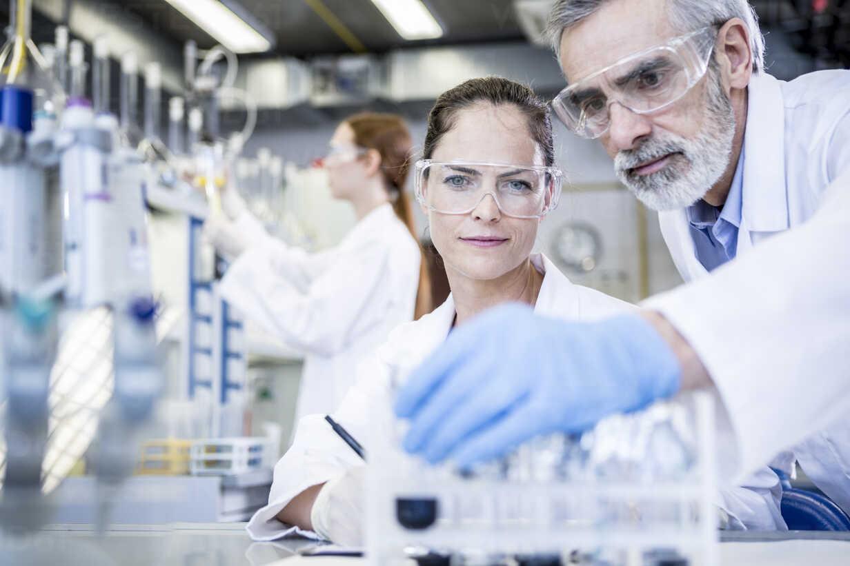 Scientists in lab examining samples - WESTF23707 - Fotoagentur WESTEND61/Westend61