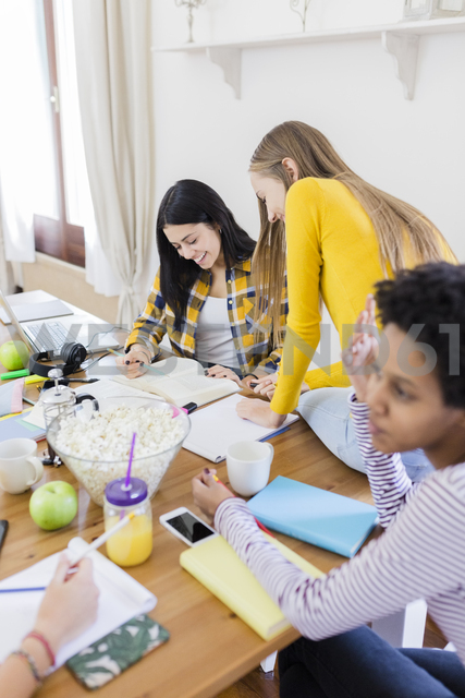 Group of female students working together at table at home - GIOF03390 - Giorgio Fochesato/Westend61