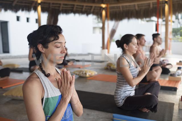 Yoga class meditating - ABAF02189