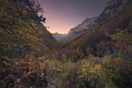 Spain, Huesca, Ordesa National Park, Sunset at Aragonese pyrenees - DHCF00162