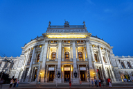 Austria, Vienna, Burg theater, blue hour - PU00935