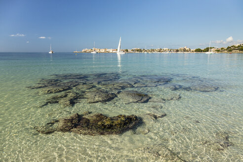 Spain, Baleares, Ses Salines, Colonia de Sant Jordi, Coast of Platja d'es Dolc - SRF00890