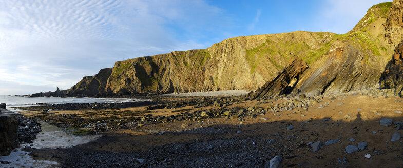 Great Britain, England, Devon, Hartland, Hartland Quay, rocky coast, panorama - SIEF07623