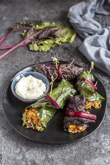 Stuffed mangold leaves and cream cheese dip - SARF03414
