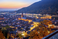Germany, Baden-Wuerttemberg, Heidelberg,  City view at sunset - PUF00947