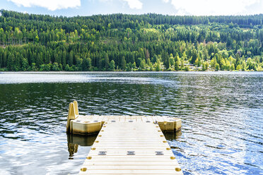 Germany, Lake Titisee, landscape with jetty - KIJF01718