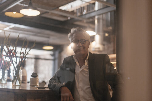 Portrait of a senior businessman taking a break in a cafe - GUSF00193