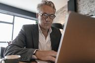 Senior businessman using laptop - GUSF00235