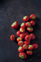 Strawberries on dark ground - CSF28552