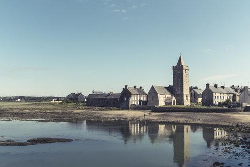 France, Normandy, Portbail, Village and romanesque church - DWIF00881