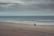 France, Normandy, Barneville-Carteret, Barnville beach, beach stroll - DWIF00884