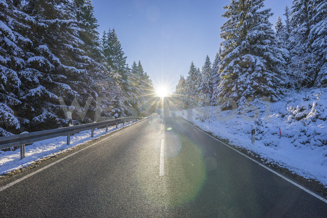 Germany, Lower Saxony, Harz National Park,  country road in the morning - PVCF01195