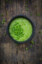 Pea soup in bowl - LVF06488