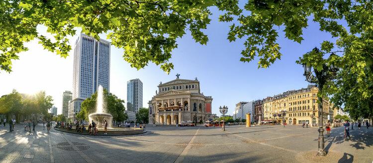 Germany, Hesse, Frankfurt, Panoramic view of Old Opera - PUF00955
