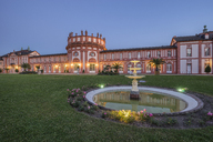 Germany, Hesse, Wiesbaden, Biebrich Palace in the evening - PVCF01205