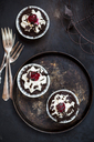Black forest cherry muffins with cream topping and cherry - SBDF03406