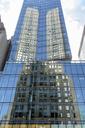 USA, New York, High-rise building, Facade with reflection - HLF01076