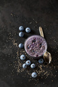 Dessert of chia seeds, cacao nibs and blueberries - CSF28608