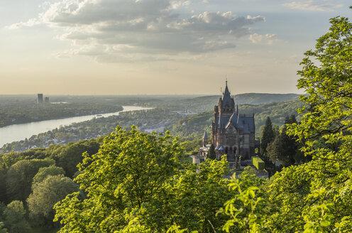 Germany, North Rhine-Westphalia, Bad Honnef, Drachenburg Palace in the evening - PVC01225