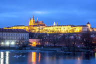 Czechia, Prague, Prague Castle, blue hour - PUF00976