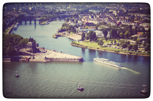 Germany, Koblenz, view of German Corner - PUF00983