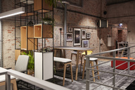 Interior of a modern industrial style loft office - WESTF23776