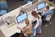 People working in big modern office - WESTF23878