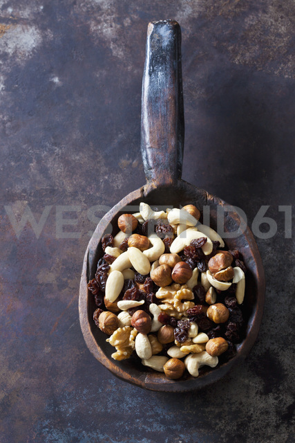 Wooden spoon of trail mix - CSF28644