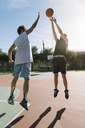 Men playing basketball - ALBF00322
